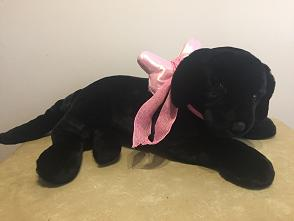 stuffed animal with bow