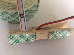 clothes pin straw holder with mounting tape
